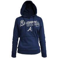 Atlanta Braves Women's Brushed Fleece Pullover Hoody by 5th & Ocean