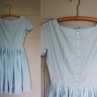 1950's Blue dress Size Small by LlorePemberton on Etsy