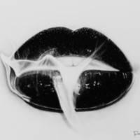 Smoke Lips Art Print by Roman0701 | Society6