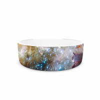 """Suzanne Carter """"Star Cluster"""" Blue Space Pet Bowl"""