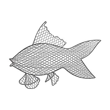 Wire Fish Wall Decor