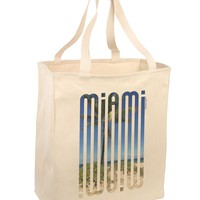 Miami Beach View Mirage Large Grocery Tote Bag