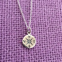 Graduation Gift - Graduation Necklace- Graduation Jewelry Necklace  - Personalized Graduation - Compass - Sterling silver Necklace