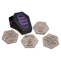 disney parks coaster set haunted mansion tomb sweet tomb stone finish new