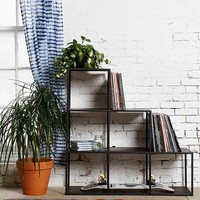 4040 Locust Metal Cube Bookcase- Charcoal One