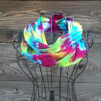 Upcycled 100% Cotton Tie Dyed Scarves