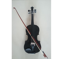 Student Acoustic Violin Full 3/4 Maple Spruce with Case Bow Rosin Black Color