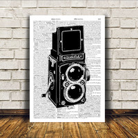 Modern decor Vintage camera poster Retro print Antique art RTA160