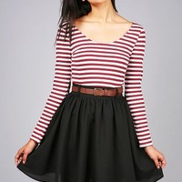 Polar Stripes Skater Dress | Cute Dresses at Pink Ice