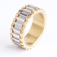 Gold and Silver Gear Ring Fidget