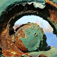 Iron Work Bridge Detail Green and Rust by shyphotog on Etsy