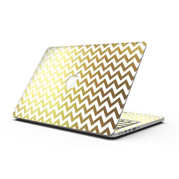 The Gold and White Chevron Pattern - MacBook Pro with Retina Display Full-Coverage Skin Kit