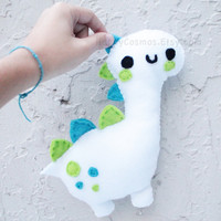 Personalized Dinosaur Plush - Make Your Own Plush - Cute Softie , Kawaii Plushie , Made to Order