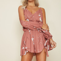 Out Of The Woods Playsuit Tan