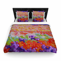 """Jeff Ferst """"Earthly Delights"""" Floral Abstract Woven Duvet Cover"""