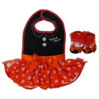 Minnie Mouse Bib and Bootie Set