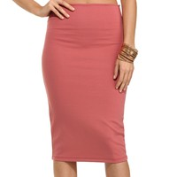 Mauve Something More Pencil Skirt