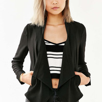 Silence + Noise Drape-Front Blazer - Urban Outfitters