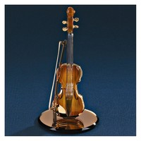 Violin Glass Figurine