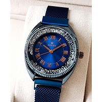 Rolex Tide brand diamond female personality wild quartz watch blue
