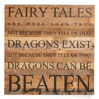 Second Nature by Hand 'Fairy Tales' Repurposed Wood Wall Art