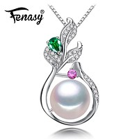 925 Sterling Silver Bohemian Pendant With Pearl Jewelry Boho Jewelry Custom Natural Freshwater Pearl Necklace For Women