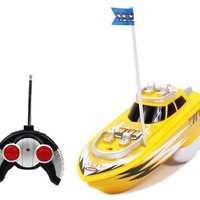 MX Championship Yellow Super Speed Electric RTR RC Boat Full Function Good Quality Remote Control Boat