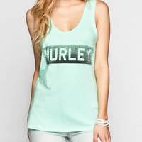 Hurley Barred Womens Tank Mint  In Sizes