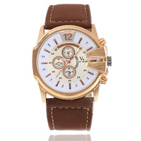 Mens Womens Sports Leather Watch Unisex Fashion Casual Watches Best Gift