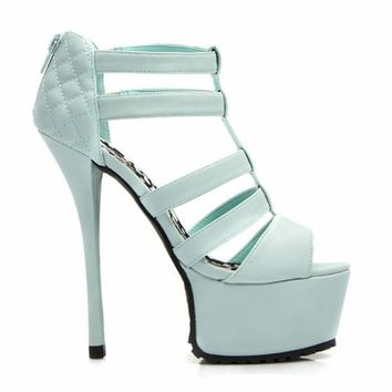 Feel A Little Quilty Strappy Platforms