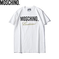 MOSCHINO Fashionable Women Men Casual Print T-Shirt Top White