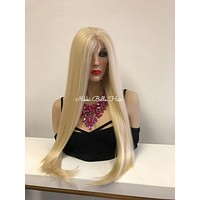Blond 360 Front Lace Wig   Volume Soft Layered Hair   Kingsley 1018