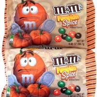 Pumpkin Spice M&Ms Chocolate Candies 9.9 oz. Bag (2 Pack)