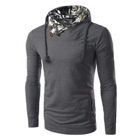 Hot Sale Korean Slim Hats Hoodies Men Mosaic Tops Jacket [6528701507]
