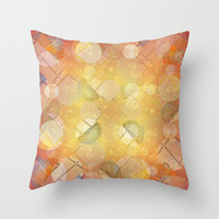 Fancy Bubbles I Throw Pillow by SensualPatterns