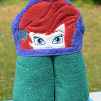 Mermaid Princess Hooded Towel