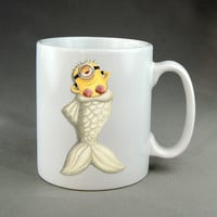 little minions as mermaid mug cup two side