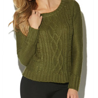 Cable Pullover Sweater   Wet Seal