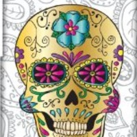 Sugar Skull Design HTC One M7 Case Cover by Katie Reed - 3D Full Wrap Design