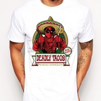 Deadpool Dead pool Taco 2018 Funny  With Tacos Printed T-Shirt For Men Boy Novelty Men's Hipster T shirt Tops Fashion Tees AT_70_6