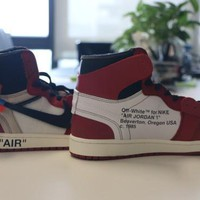 Free Shipping AIR JORDAN 1 (CHICAGO - OFF WHITE) BASKETBALL SHOES
