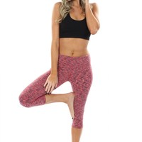 Abstract Active Pants Coral
