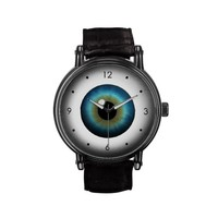 Cool Freaky Blue Eyeball Customizable Wrist Watch from Zazzle.com