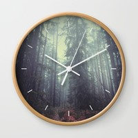 The magic trails Wall Clock by HappyMelvin