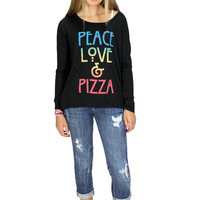 Dirtee Hollywood Peace Love & Pizza Tee | Mod Angel