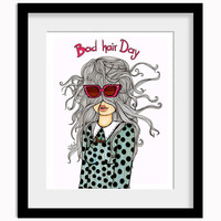 Bad Hair Day Print