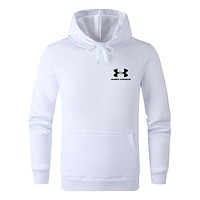Under Armour 2019 new fashion sports hooded sweater White