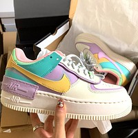 NIKE Air Force 1 Low New fashion hook women hit color shoes