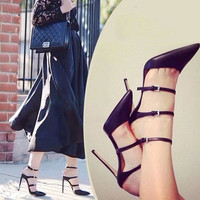 Pointed Toe High Heel Cats Shoes = 4814744324