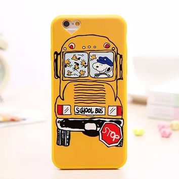 Cute 3D Cartoon Charlie Brown Snoopy Soft Lovely Phone Back Cover Case For Apple iPhone 6 6s 4.7'